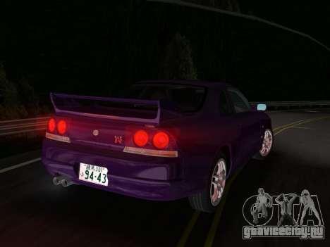 Nissan SKyline GT-R BNR33 для GTA Vice City вид справа