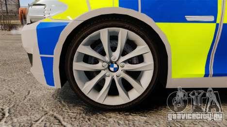BMW 550i Metropolitan Police [ELS] для GTA 4 вид сзади