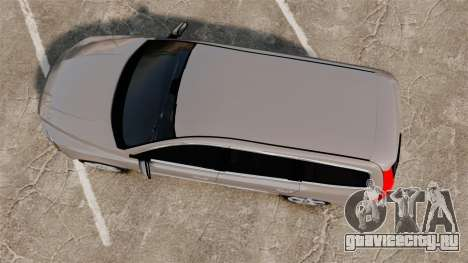 Volvo V70 Unmarked Police [ELS] для GTA 4 вид справа