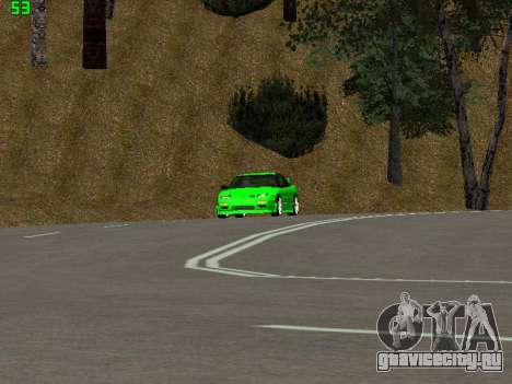 Nissan 240SX Drift Version для GTA San Andreas вид сзади