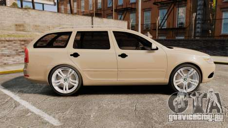 Skoda Octavia RS Stock для GTA 4 вид слева