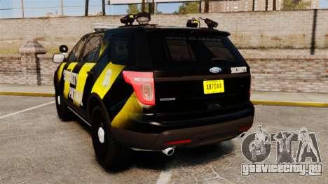 Ford Explorer 2013 Security Patrol [ELS] для GTA 4 вид сзади слева