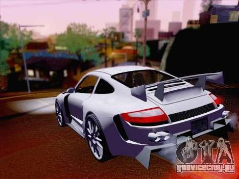 Porsche Carrera S для GTA San Andreas вид сзади
