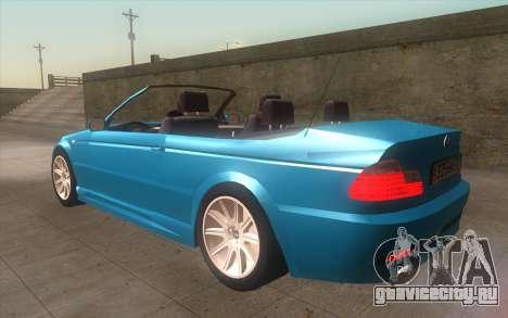 BMW 325Ci 2003 для GTA San Andreas вид слева