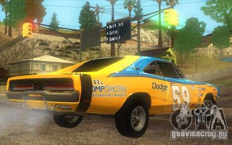 Dodge Charger RT 1969 для GTA San Andreas вид слева