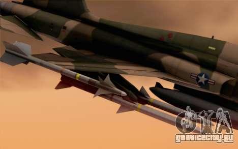 F-5 Tiger II для GTA San Andreas вид справа