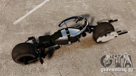 Бэтмотоцикл Бэтпод для GTA 4 вид сзади слева
