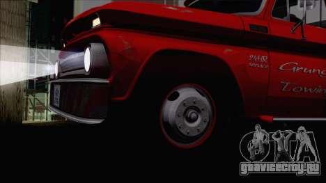 Chevrolet C20 Towtruck 1966 1.01 для GTA San Andreas вид справа