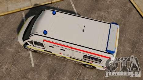 Renault Master French Red Cross [ELS] для GTA 4 вид справа