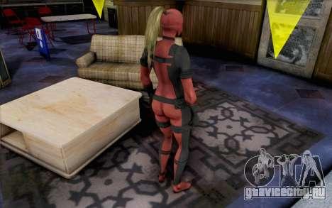 Lady Deadpool для GTA San Andreas второй скриншот