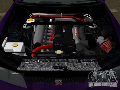 Nissan SKyline GT-R BNR33 для GTA Vice City вид сверху