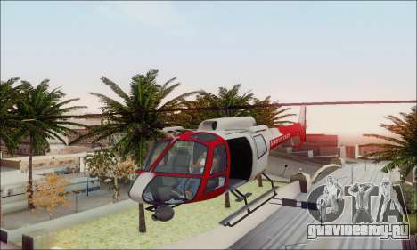 GTA V Ambulacia Maverick для GTA San Andreas вид сверху