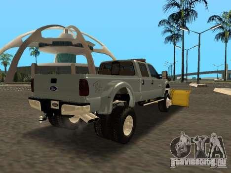 Ford F-450 для GTA San Andreas вид сзади