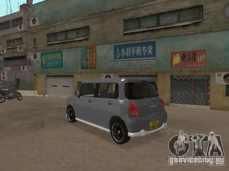 Suzuki Alto Lapin для GTA San Andreas вид изнутри