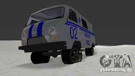 УАЗ 3741 ГИБДД для GTA Vice City вид сзади слева