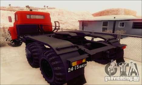 КрАЗ 260В для GTA San Andreas вид сзади