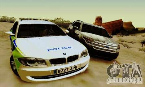 BMW 120i SE Police для GTA San Andreas вид справа