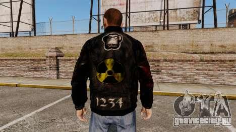 Чёрная куртка из рециклированной кожи для GTA 4 второй скриншот