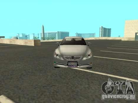 Toyota Mark X для GTA San Andreas вид изнутри