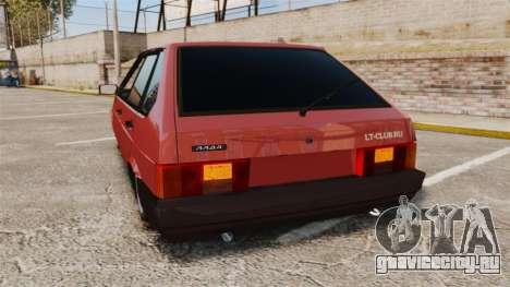 ВАЗ-2109 для GTA 4 вид сзади слева