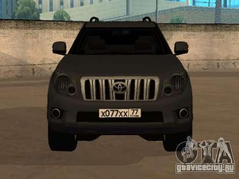 Toyota Land Cruiser Prado 2012 для GTA San Andreas вид сзади слева