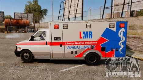 Brute Liberty Ambulance [ELS] для GTA 4 вид слева
