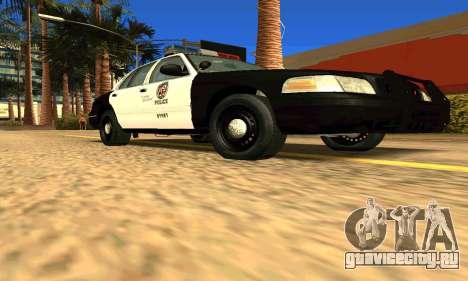 Ford Crown Victoria Police LV для GTA San Andreas вид справа