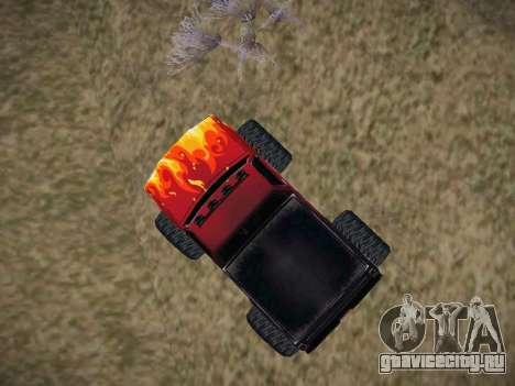 Новые текстуры для Monster A для GTA San Andreas вид справа