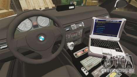 BMW 330i Ambulance [ELS] для GTA 4 вид сзади
