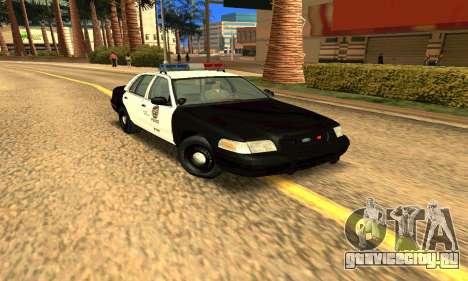 Ford Crown Victoria Police LV для GTA San Andreas вид сзади