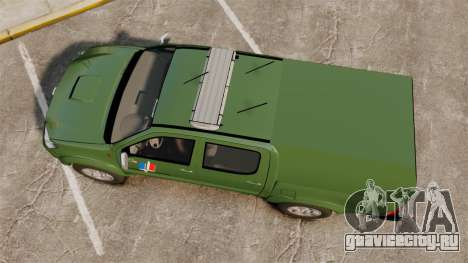 Toyota Hilux Land Forces France [ELS] для GTA 4 вид справа