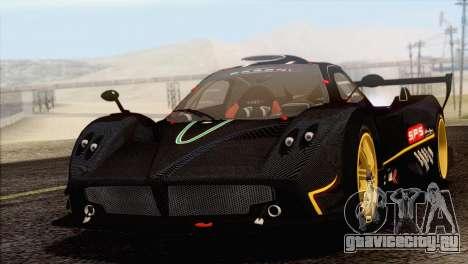 Pagani Zonda R SPS v3.0 Final для GTA San Andreas вид сзади