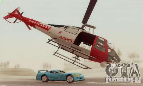GTA V Ambulacia Maverick для GTA San Andreas вид сзади слева