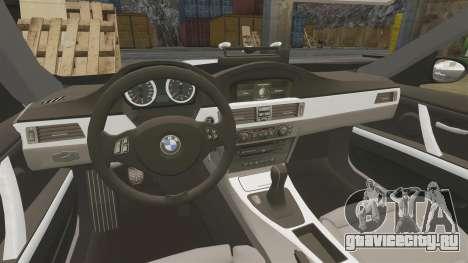 BMW M3 Unmarked Police [ELS] для GTA 4 вид изнутри