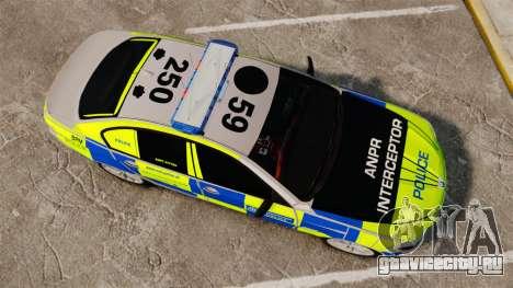 BMW 550i Metropolitan Police [ELS] для GTA 4 вид справа