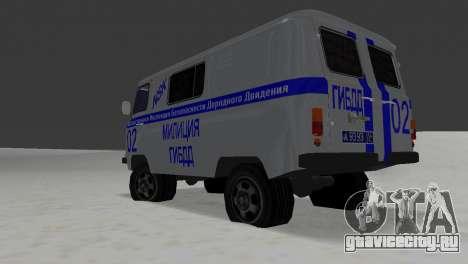 УАЗ 3741 ГИБДД для GTA Vice City вид справа