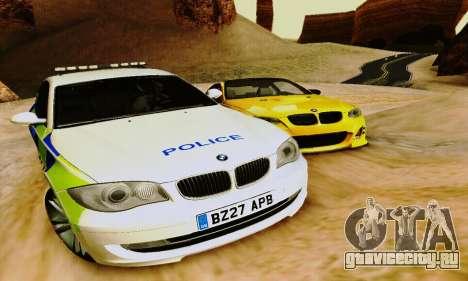 BMW 120i SE Police для GTA San Andreas