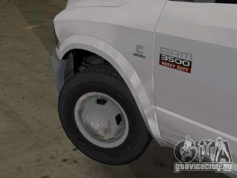 Dodge Ram 3500 Laramie 2012 для GTA Vice City вид сзади слева