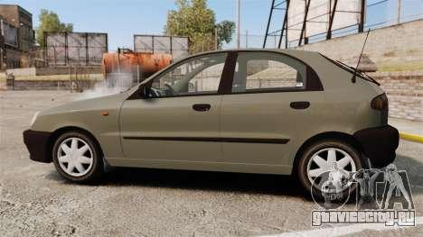 Daewoo Lanos S PL 2001 для GTA 4 вид слева