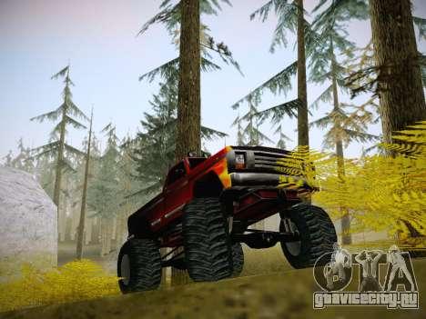Новые текстуры для Monster A для GTA San Andreas вид сзади слева