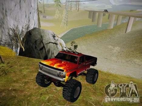 Новые текстуры для Monster A для GTA San Andreas вид слева