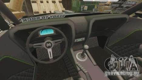 Ford Mustang RTRX для GTA 4 вид изнутри