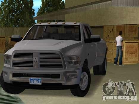 Dodge Ram 3500 Laramie 2012 для GTA Vice City
