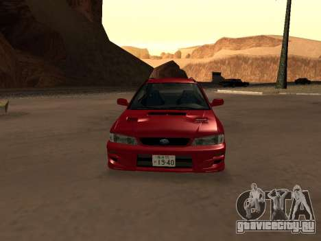 Subaru Impreza Wagon для GTA San Andreas вид изнутри