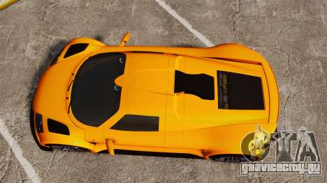 Gumpert Apollo S 2011 для GTA 4 вид справа