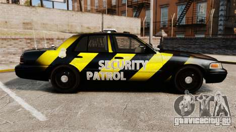 Ford Crown Victoria 2008 Security Patrol [ELS] для GTA 4 вид слева