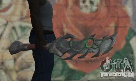 Меч из World of Warcraft для GTA San Andreas третий скриншот