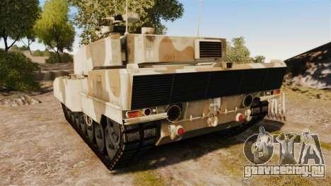 Leopard 2A7 для GTA 4 вид сзади слева
