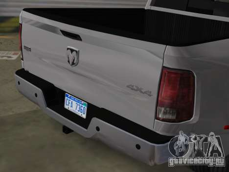 Dodge Ram 3500 Laramie 2012 для GTA Vice City вид сзади