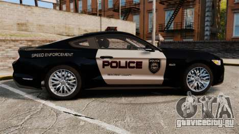 Ford Mustang GT 2015 Police для GTA 4 вид слева